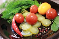 1 ζωή ακόμα παστωμένα λαχανικά στοκ φωτογραφία
