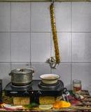 1 ζωή ακόμα Προετοιμασίες για το γεύμα στοκ εικόνα με δικαίωμα ελεύθερης χρήσης