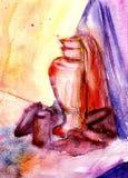 1 ζωή ακόμα watercolor Στοκ εικόνα με δικαίωμα ελεύθερης χρήσης