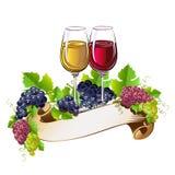 Ζωή γυαλιών κρασιού ακόμα διανυσματική απεικόνιση