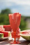 Ζωή θερινών φρούτων ακόμα, φυσική φρεσκάδα καρπουζιών Στοκ Εικόνα