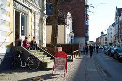 Ζωή καφέδων στην Κοπεγχάγη Στοκ εικόνα με δικαίωμα ελεύθερης χρήσης