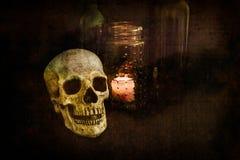 Ζωή κρανίων Grunge ακόμα Στοκ φωτογραφίες με δικαίωμα ελεύθερης χρήσης