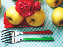 ζωή μήλων ακόμα Στοκ Φωτογραφίες