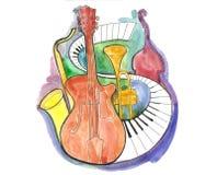 ζωή μουσική ακόμα Διανυσματική απεικόνιση