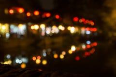 Ζωή νύχτας εστίασης θαμπάδων Στοκ Εικόνες