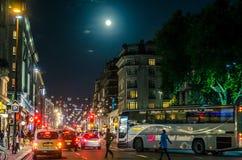 Ζωή νύχτας πόλεων Στοκ Εικόνες