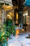 Ζωή νύχτας πόλεων Nafplio στοκ εικόνα