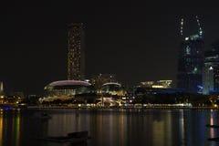 Ζωή νύχτας στη Σιγκαπούρη Στοκ Εικόνες