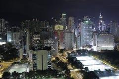 Ζωή νύχτας στο Χονγκ Κονγκ Στοκ Εικόνα
