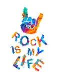 ζωή ο βράχος μου Σημάδι των κέρατων Στοκ φωτογραφία με δικαίωμα ελεύθερης χρήσης