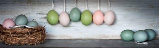 Ζωή πανοράματος ακόμα με τα αυγά Πάσχας Στοκ φωτογραφία με δικαίωμα ελεύθερης χρήσης