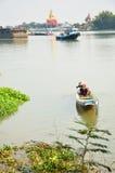 Ζωή πολιτισμού και παράδοσης των ταϊλανδικών λαών γύρω από τον ποταμό phraya Chao στοκ εικόνες με δικαίωμα ελεύθερης χρήσης