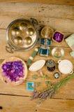 Ζωή προσοχής σωμάτων Aromatherapy ακόμα Στοκ Φωτογραφίες
