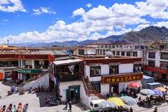 Ζωή πόλεων γύρω από την οδό Barkhor, Lhasa, Θιβέτ Στοκ εικόνα με δικαίωμα ελεύθερης χρήσης