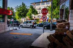Ζωή σε μια μικρή τουρκική πόλη Στοκ φωτογραφία με δικαίωμα ελεύθερης χρήσης
