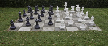 Ζωή - σκακιέρα και κομμάτια μεγέθους Στοκ φωτογραφία με δικαίωμα ελεύθερης χρήσης