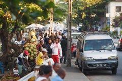 Ζωή στους δρόμους στην πόλη Toamasina, Μαδαγασκάρη Στοκ φωτογραφία με δικαίωμα ελεύθερης χρήσης