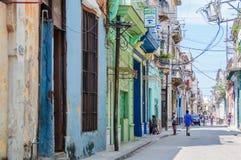 Ζωή στους δρόμους στο Λα Habana Vieja, Κούβα Στοκ Φωτογραφίες