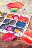 Ζωή φθινοπώρου ακόμα με το watercolor Στοκ Φωτογραφία