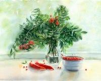 Ζωή φθινοπώρου Watercolor ακόμα Στοκ Εικόνες