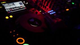Ζωή Disco - πολλοί πυροβολισμοί του DJ απόθεμα βίντεο