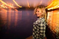 Ζωή Sity νύχτας Στοκ Εικόνα