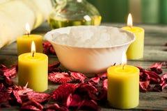 Ζωή SPA ακόμα: aromatherapy κερί και άλλο Στοκ φωτογραφία με δικαίωμα ελεύθερης χρήσης