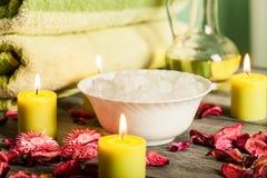 Ζωή SPA ακόμα: aromatherapy κερί και άλλο Στοκ Εικόνα