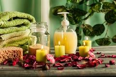 Ζωή SPA ακόμα: aromatherapy κερί και άλλο Στοκ φωτογραφίες με δικαίωμα ελεύθερης χρήσης