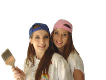 ζωγράφοι κοριτσιών Στοκ εικόνα με δικαίωμα ελεύθερης χρήσης