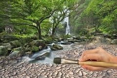 ζωγράφος λαβής χεριών βο&ups Στοκ φωτογραφίες με δικαίωμα ελεύθερης χρήσης