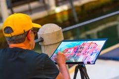 Ζωγράφος αρχαρίων, Βενετία, Ιταλία Στοκ εικόνα με δικαίωμα ελεύθερης χρήσης