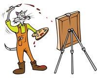 ζωγράφος γατών απεικόνιση αποθεμάτων