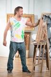 Ζωγράφος και η τέχνη του Στοκ Εικόνα