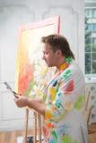 Ζωγράφος και η τέχνη του Στοκ Εικόνες