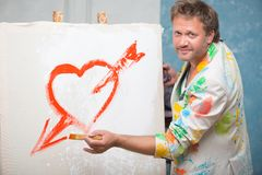 Ζωγράφος και η τέχνη του Στοκ εικόνες με δικαίωμα ελεύθερης χρήσης