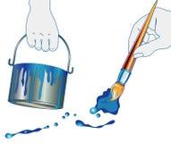 ζωγράφος σπιτιών χεριών απεικόνιση αποθεμάτων