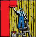 ζωγράφος σπιτιών Στοκ φωτογραφία με δικαίωμα ελεύθερης χρήσης