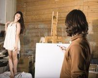 Ζωγράφος στην εργασία Στοκ Φωτογραφία
