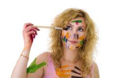 ζωγράφος χρώματος Στοκ Φωτογραφίες