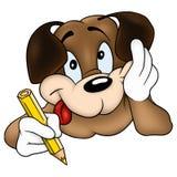 ζωγράφος 01 σκυλιών απεικόνιση αποθεμάτων