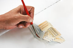 ζωγράφος s χεριών Στοκ Εικόνες