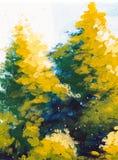 Ζωγραφική δέντρων σε έναν συμπαγή τοίχο Στοκ Φωτογραφία
