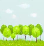 Ζωγραφική δέντρων φαντασίας Στοκ Εικόνα
