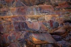 Ζωγραφική έργων ζωγραφικής και σπηλιών βράχου στο Caatinga της Βραζιλίας Στοκ φωτογραφία με δικαίωμα ελεύθερης χρήσης