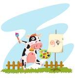 ζωγραφική αγελάδων διανυσματική απεικόνιση