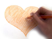 ζωγραφική ατόμων καρδιών Στοκ Φωτογραφίες