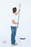 Ζωγραφική ατόμων στο άσπρο υπόβαθρο Στοκ εικόνα με δικαίωμα ελεύθερης χρήσης