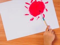 Ζωγραφική βουρτσών Στοκ φωτογραφίες με δικαίωμα ελεύθερης χρήσης